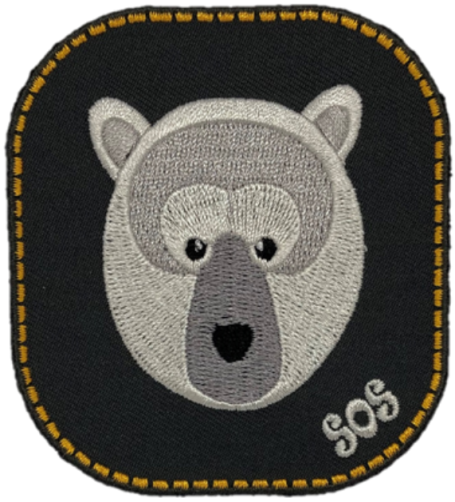 SOS Polar bear patch