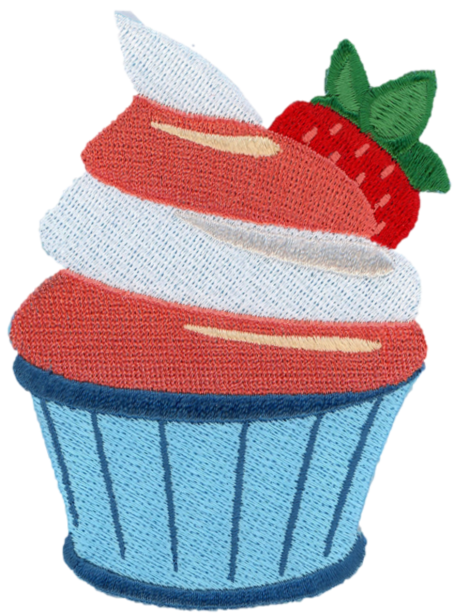 Iron-on Strawberry Cupcake