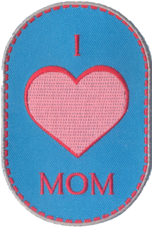 "Creapatch ""I love Mom"""