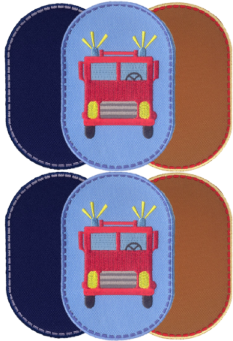 Advantage pack Fire Truck knee patches